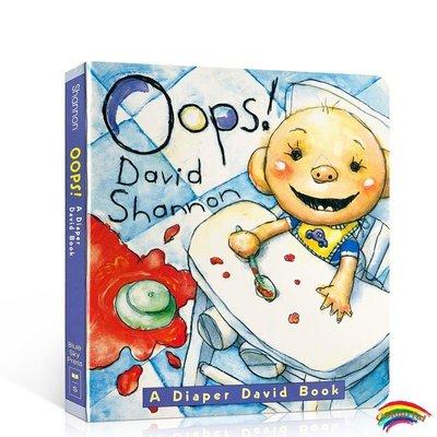 英文原版 Oops David: A Diaper David Book 大衛不可以系列 撕不爛紙板書英語啟蒙大衛香農 No David Shannon學習簡單