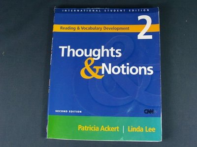 【懶得出門二手書】《Thoughts &Notions 2》MCGRAW-HILL EDUCATION ASIA│七成新