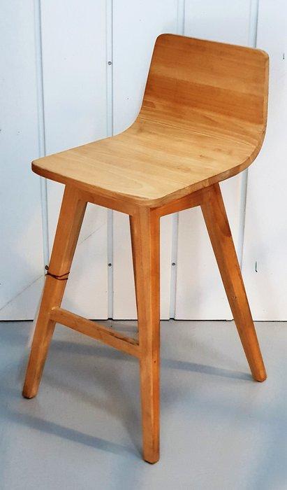 幸福家傢俱 吧檯椅(MIDI 高腳椅) 原色 實木傢俱