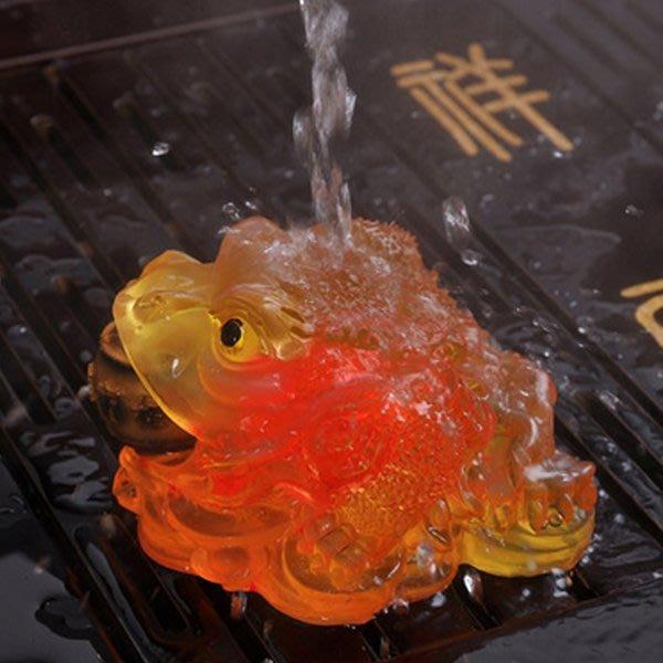 5Cgo【茗道】含稅會員有優惠 16420549435 變色樹脂可養金蟾茶寵茶道配件泡茶把玩裝飾家居擺件茶寵泡茶茶具