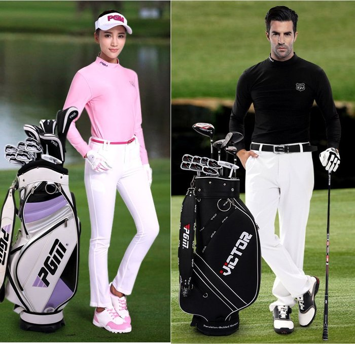 (E款)高爾夫球桿 女士套桿 初學練習桿套裝(鋼杆13支+球袋)_☆優購好SoGood☆