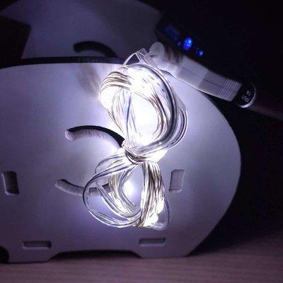【贈品禮品】A4257 LED銅線燈串(白光)-2米20燈/LED燈防水燈/戶外裝飾照明景觀燈/USB燈DIY聖誕燈