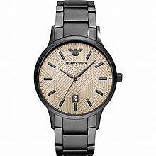 [永達利鐘錶 ] Emporio Armani 全鐵灰 紋路設計 日期 鍊帶錶 /43mm/AR11120