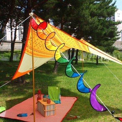 【大山野營】TNR-151 七彩風條 旋轉彩帶 營繩風條 裝飾 戶外 露營 帳篷飾品