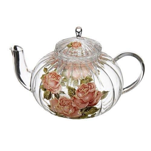 日本【黃金玫瑰 Gold Rose】耐熱紋路茶壺