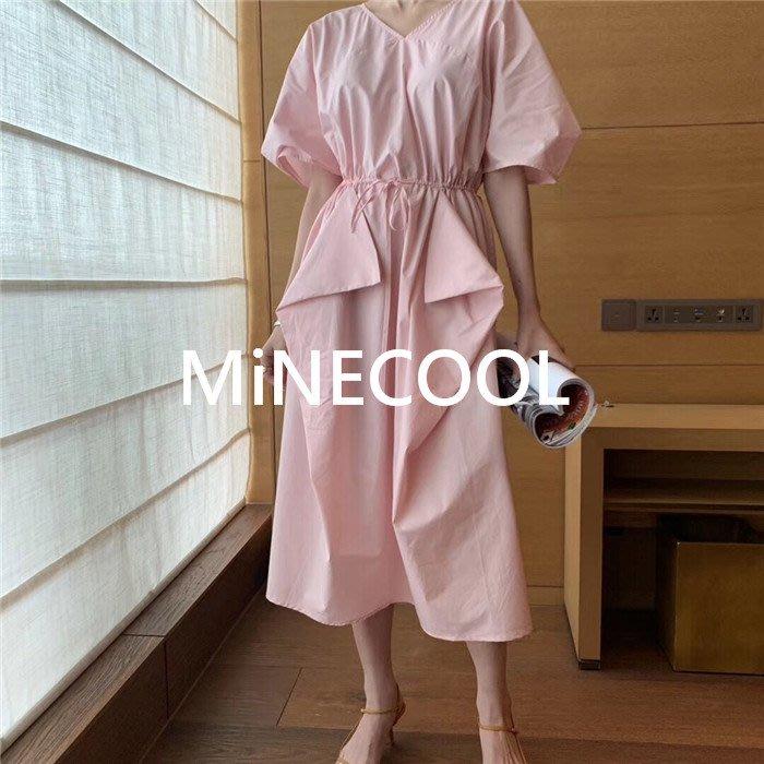 MiNE SHOP韓國高單 不規則連衣裙M9531-2兩色 均碼