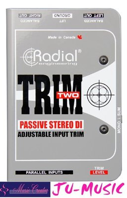 造韻樂器音響- JU-MUSIC - Radial Trim two 連接到PA時消除嗡嗡聲『公司貨,免運費』