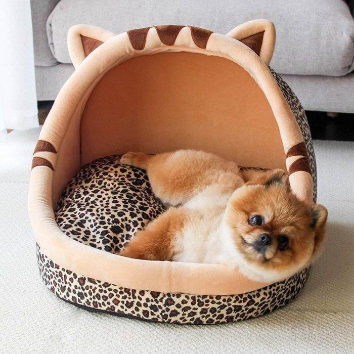 狗窩貓窩可拆洗四季通用寵物窩狗屋狗狗床泰迪小型犬房子夏季狗窩禮物
