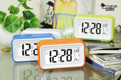 簡約懶人貪睡鬧鐘夜光靜音時鐘聰明鐘創意時尚電子鐘床頭兒童座鐘 頂部觸摸即亮  帶背光 液晶數字顯示