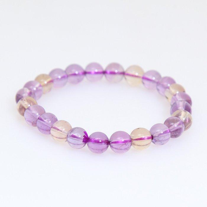 嚴選天然透亮紫黃晶手珠15.1g, 7.9mm