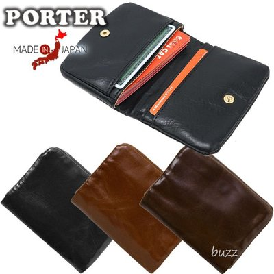 巴斯 日標PORTER屋- 三色預購 PORTER SOAK 牛肩革皮夾-卡夾-名片夾 101-06059