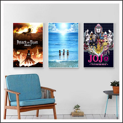 進擊的巨人 JoJo的奇妙冒險 動畫海報 電影海報 藝術微噴 掛畫 嵌框畫 @Movie PoP 賣場多款海報#