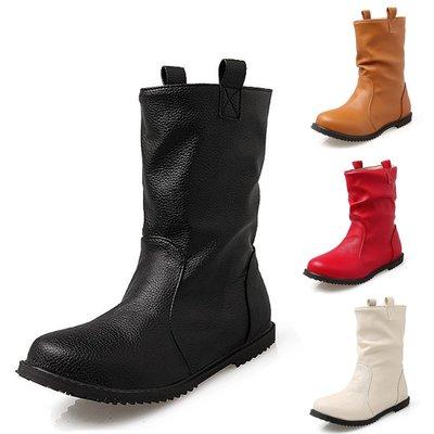 女靴 歐美大碼鞋 平底靴 馬丁靴 短靴 裸靴 女童靴 親子裝 仿皮靴 中筒靴 Vancy 冬天鞋 womens boots 30-52 碼 SB122#