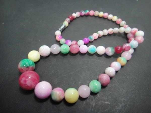 【競標網】天然罕見新疆三彩玉石褡珠項鍊(天天超低價起標、價高得標、限量一件、標到賺到)