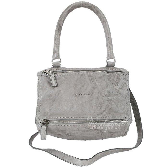 米蘭廣場 GIVENCHY Pandora 綿羊皮鞣製兩用提包(小/咖啡灰) 1620048-D7