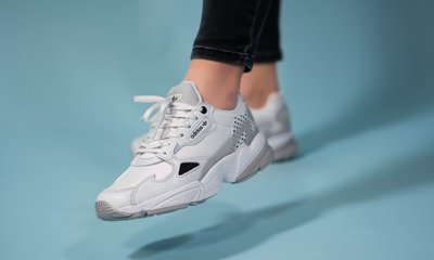 FOCA Adidas Originals Falcon w 白銀 點點 配色 老爹鞋 復古 休閒 慢跑鞋 EF4983