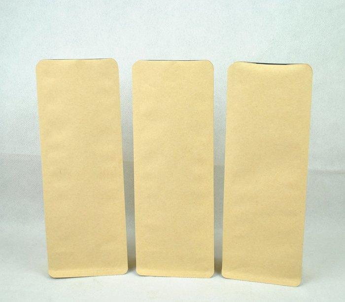 PNB102 – 淺色 牛皮紙 黃牛皮 1/2 半磅 227g 平底袋 平底夾邊袋 含瑞士單向排氣閥 100入