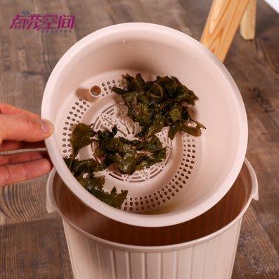 【艾尚茶具】辦公室泡茶垃圾桶倒茶葉茶桶廢水茶渣桶茶葉渣過濾垃圾筒排水桶