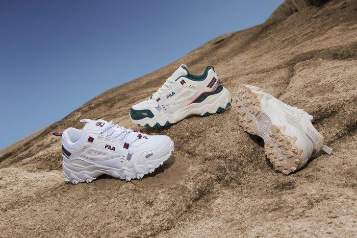 【Luxury】Fila  OAKMONT TR 拼接式鋸齒底 厚底鋸齒鞋 白米綠 3色 男女鞋 情侶鞋 韓國代購 正品