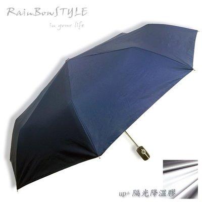 【加強版】經典款 PLUS - 抗UV自動晴雨傘 (藏青) / 防風傘防曬傘加大傘防潑傘陽傘洋傘折傘摺疊傘自動傘(免運)