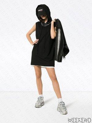 【WEEKEND】TEN PIECES X RUDE 長版 寬鬆 無袖 連帽 帽T裙 短洋 黑色