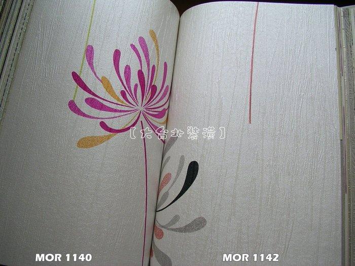 【大台北裝潢】MOR國產現貨壁紙* 白底 蒲公英(3色) 每支360元
