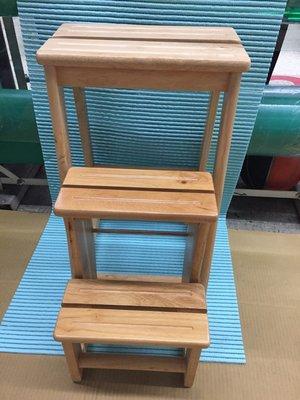 【小丸子生活百貨】實木三層梯椅 KL-109 樓梯椅/花架/造型樓梯椅/吧台樓梯