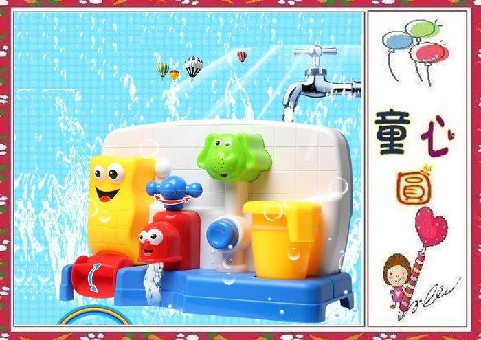 仿真水龍頭大象水車洗澡玩具 ~浴室玩具 噴水玩具 ~超有趣~寶寶洗澡好玩具◎童心玩具1館◎