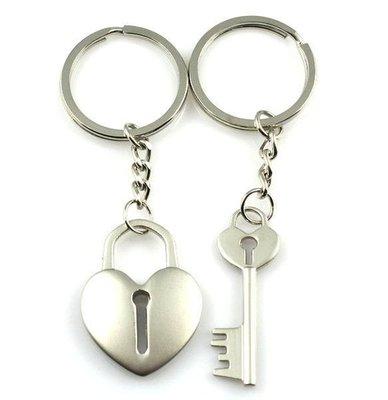 【SPSP】情人鎖鑰匙圈 一對兩入 鎖住你(妳)的情人 長長久久 愛情 情侶鑰匙圈 造型鑰匙圈 汽車鑰匙圈 機車鑰匙圈
