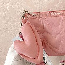 LeSportsac 粉色車線立體愛心 8105  手掛繩多夾層化妝包 零錢包 收納包 降落傘防水 限量 大號 可當斜背包 附背帶款 可斜背