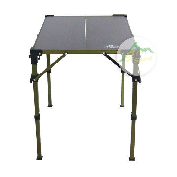 【【蘋果戶外】】Go Sport 96022 兩片複合板折疊桌 摺疊桌 休閒桌 蛋捲桌 L
