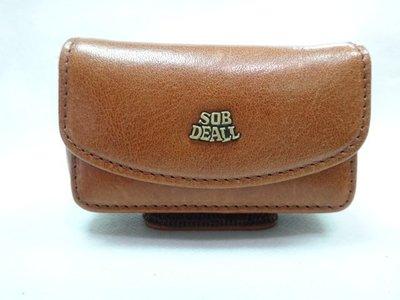*迪奧小店*SOB DEALL手機套(超小型)手機袋~粘式手機腰包~隨身收納腰包~義大利原皮~特價