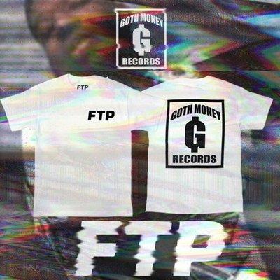 Cover Taiwan 官方直營 $UICIDEBOY$ FTP 音樂廠牌 嘻哈 短袖 短Tee 白色 黑色 (預購)