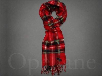 美國 A&F Abercrombie & Fitch Scarf AF麋鹿經典格紋長型圍巾 免運費 愛 Coach包包