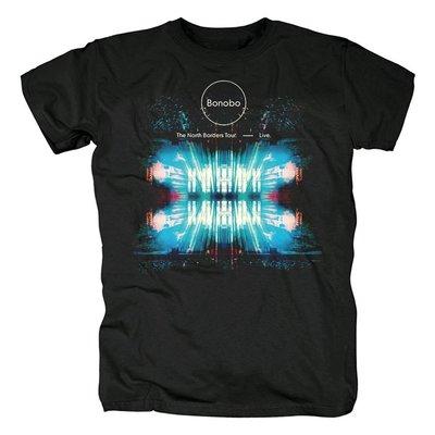 Bonobo-The North Borders Tour英國電子音樂歐美流行搖滾純棉T恤