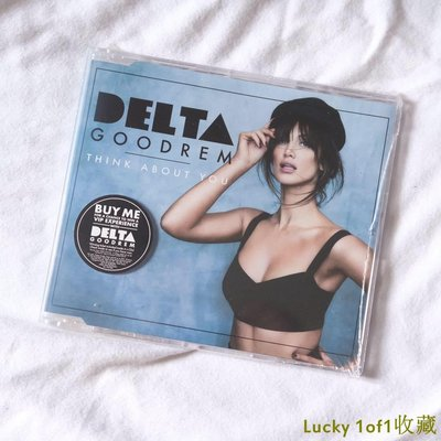 Lucky 1of1收藏現貨 簽名版 Delta Goodrem Think About You 單曲 CD