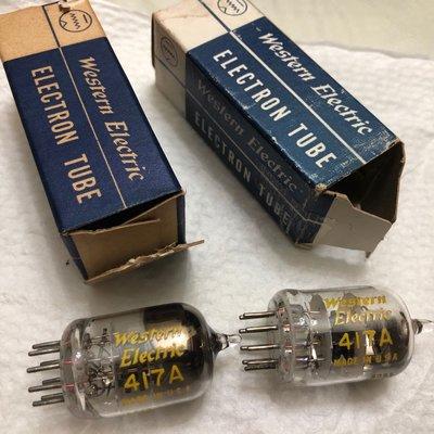 Western Electric 417A NOS ㄧ對價 真空管 非 5687 5842 E55L  71A 2A3 300B EL34