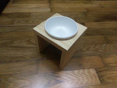 【木頭貓】手工寵物餐桌 平口寵物碗架 貓碗架 狗碗架 實木寵物碗架 松木貓碗架 嘉義縣