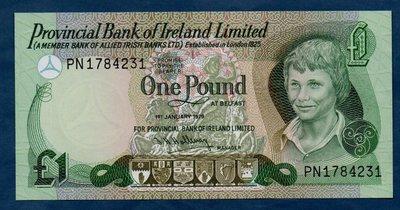 老董先生2079年 北愛爾蘭1鎊 紙幣 全新