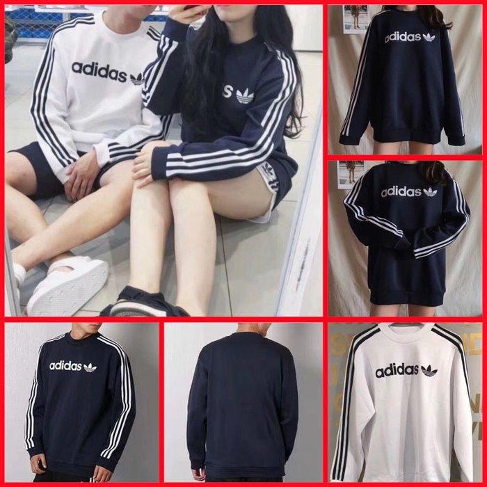 BR4229 BR4222 黑 白  寶藍三色Adidas 愛迪達 三葉草 男款衛衣套頭衫 運動衛衣 針織純棉套頭衫