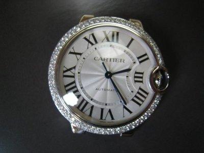 【愛錶回春中心】原廠 Cartier Ballon Bleu de  Cartier  36.6mm ( 代鑲鑽石.請自備錶~)