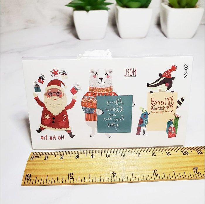 【萌古屋】聖誕節禮物聖誕老公公 - 兒童防水紋身貼紙刺青貼紙SS-02