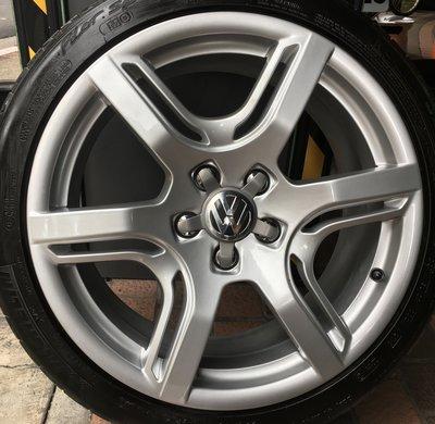 Audi 原廠18吋鋁圈含胎 福斯 VW Passat Caddy Touran T4 VR6 Tiguan Skoda