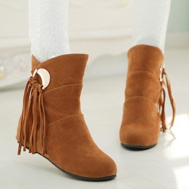 yes99buy加盟-小流蘇平底短筒靴