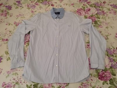 """FRED PERRY MEN""""S LONG SLEEVE SHIRT  SIZE L (SLIM FIT)"""