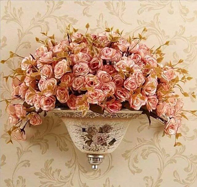 粉紅玫瑰精品屋~歐式高檔富貴牡丹花瓶壁掛~