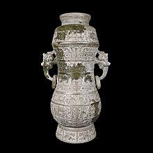 《博古珍藏》漢.和闐玉雕獸面紋雙獸耳帶蓋玉瓶.1.71公斤.老件文物.早期收藏.行家勿錯過.超值回饋