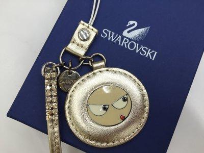 SWAROVSKI 施華洛世奇 原廠絕版品真品 金色手機吊飾--全新真品