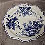 (台中可愛小舖)田園鄉村白色陶瓷盤藍色水...