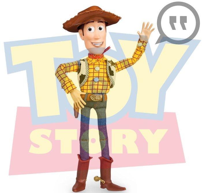 現貨剛到【迪士尼 Disney Pixar】全新正品 玩具總動員 會說話電影版 胡迪 WOODY【高約40公分】